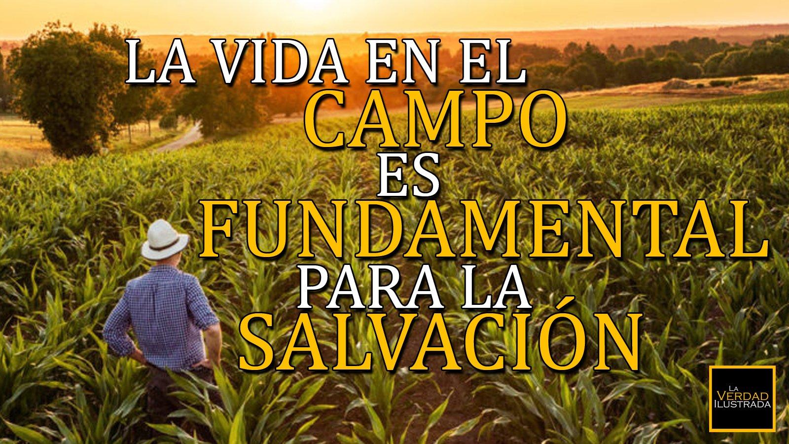 La vida en el campo es fundamental para la salvación